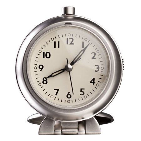 Control Brand Metal Travel Alarm Tabletop Clock
