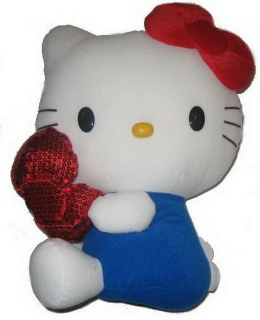 Hello Kitty 14-inch Sparkle Bow Blue DX Plush EIKBO by Eikoh