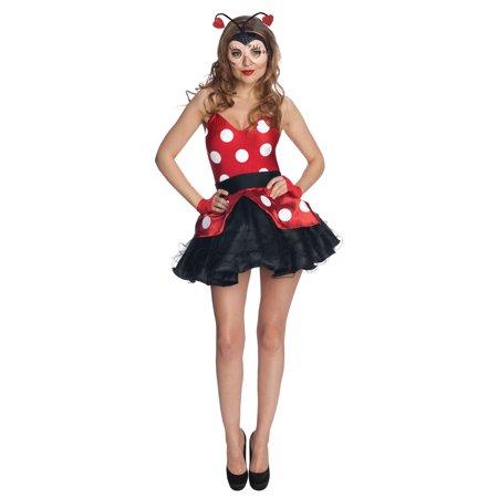 Ladybug Dress Sexy Adult Women's Costume (Ladybug Womens Costume)