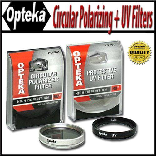 Opteka 28mm High Definition II Circular Polarizing + UV (0) Ultra Violet Haze Multi-Coated Glass Filter Kit