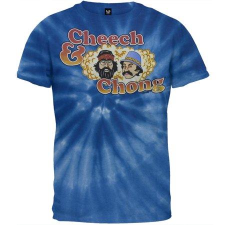 Cheech & Chong - Logo Spiral Tie Dye T-Shirt (Cheech Mustache)