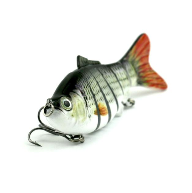Fashion Multi-SectionFishing Lure Crank Bait Swimbait Bass Lifelike Fishing Hooks Outdoor by