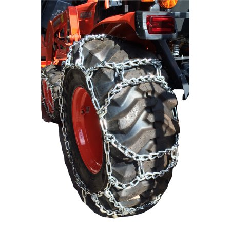 Snow Chains 9.5-28, 9.5 28 Duo Grip Tractor Tire Chains w/Spring Tensioners - image 3 de 4