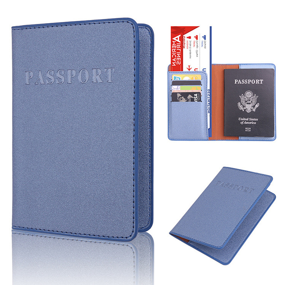 Travel Passport ID Card Cover Wallet Holder Case Protector PU Leather Organizer