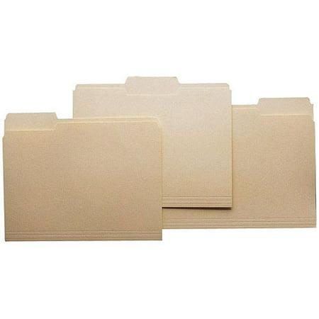 (SchoolSmart Third-Cut File Folders, Manila, 100-Pack)