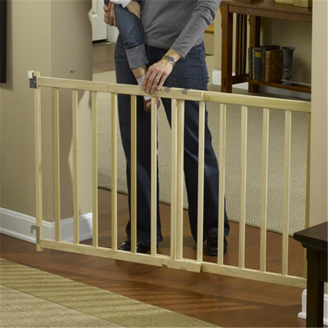 GMI 13-480-10 GuardMaster III 480 Tall Wide Wood Slat Swing Gate - Top Of Stairs Rated