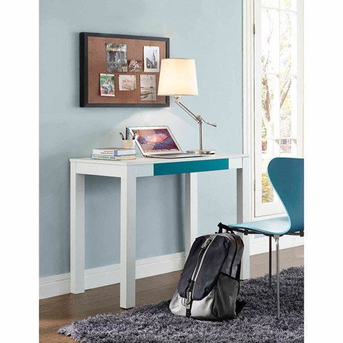 Parsons Desk With Colored Drawer, Multiple Colors