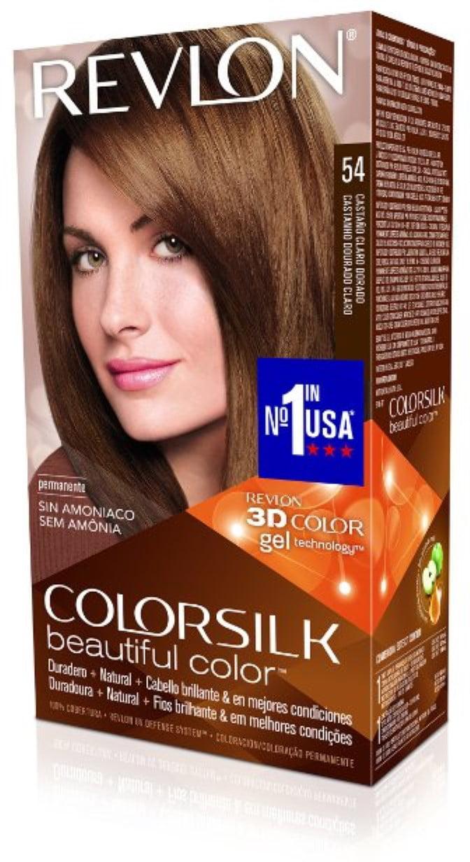 Revlon ColorSilk Hair Color 54 Light Golden Brown 1 Each (Pack of 6) - Walmart.com
