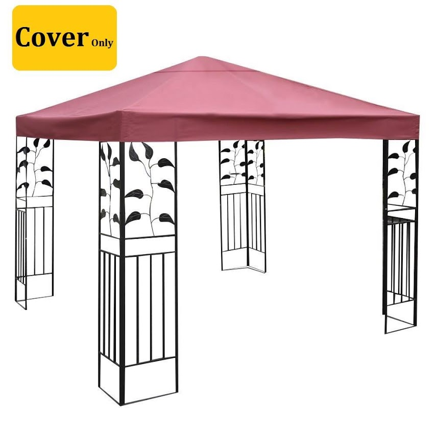 Waterproof Gazebo Replacement Cover 10x10 Feet One Tier Patio Canopy  Replacement Covers Netting Outdoor Garden