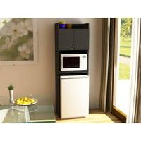 SystemBuild Clarkson Refrigerator Storage in Black Stipple