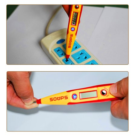 Voltage Tester Pen Digital LCD Circuit Detector Inductive Test AC/DC500V 2pcs - image 3 of 4