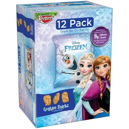 Keebler Disney Frozen Graham Snacks Cinnamon   12 Pks  1 06 Oz