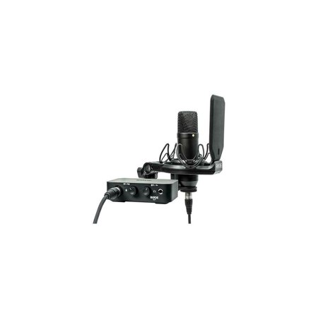 Rode Microphones Complete Studio Kit with AI-1 Audio Interface and NT1 (Rode Videomic Pro Microphone Studio Boom Kit)