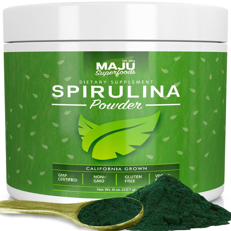MAJU's Spirulina Powder: California Grown, Non-Irradiated, Non-GMO