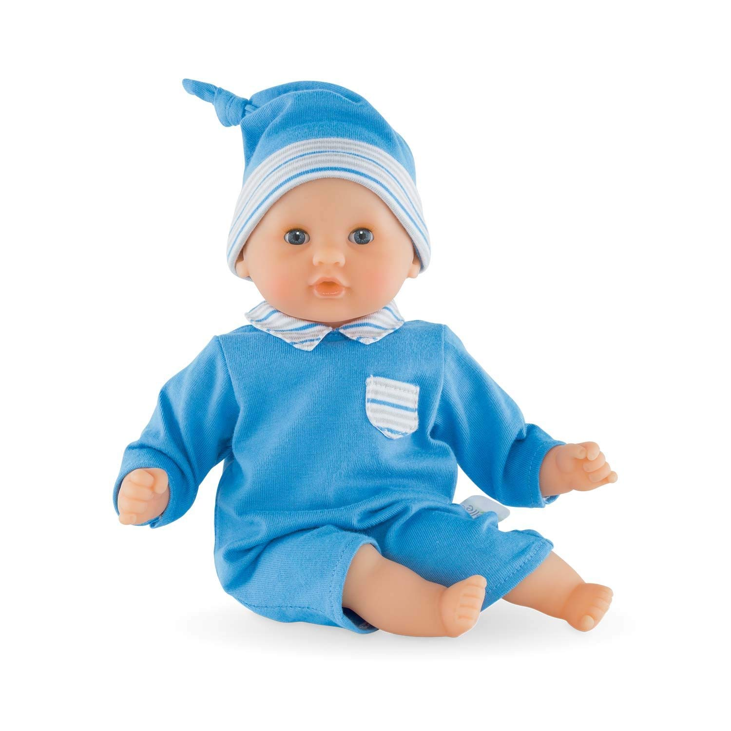 Mon Premier Bébé Calin Blue Baby Doll, Colin is the perfect my first baby doll soft bean filled body allows... by