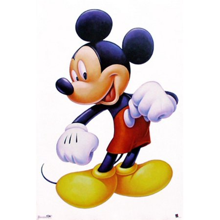 Mickey Mouse Painted Portrait Poster Print by Walt Disney (22 x 28)