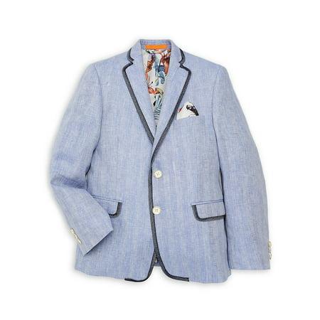 Boy's Herringbone Linen Jacket