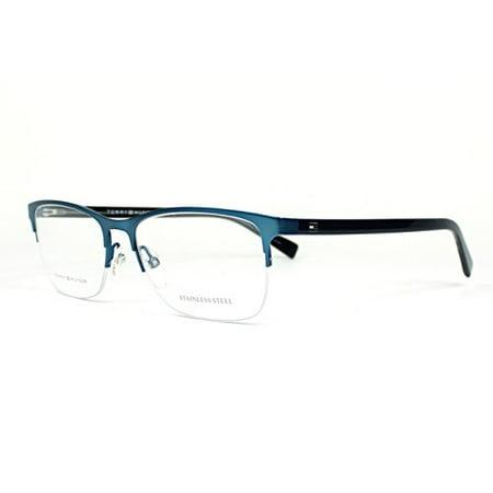 Tommy Hilfiger Glasses Frames Blue : Tommy Hilfiger Thilfiger 1453 0B40 Matte Blue Eyeglasses ...