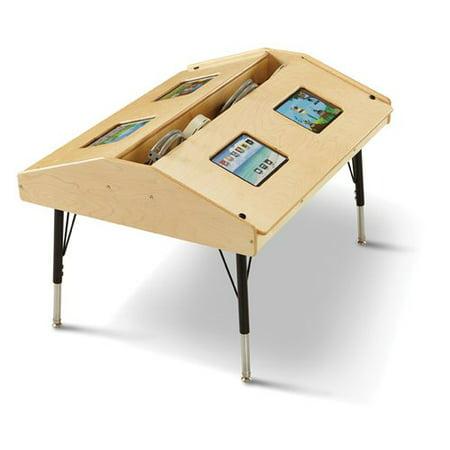 Jonti-Craft Wood Adjustable Height Student Computer Desk