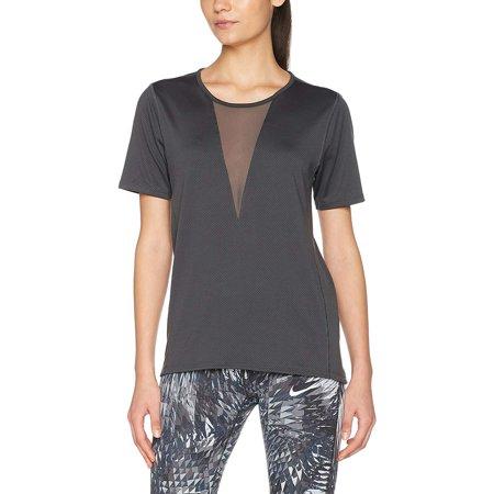 Nike Women's Dri-Fit Short Sleeve Relay Running Top (Anthracite, Medium)