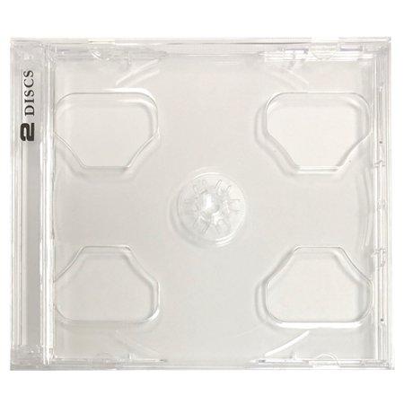 CheckOutStore® 10 STANDARD Clear Smart Tray Double CD Jewel Case
