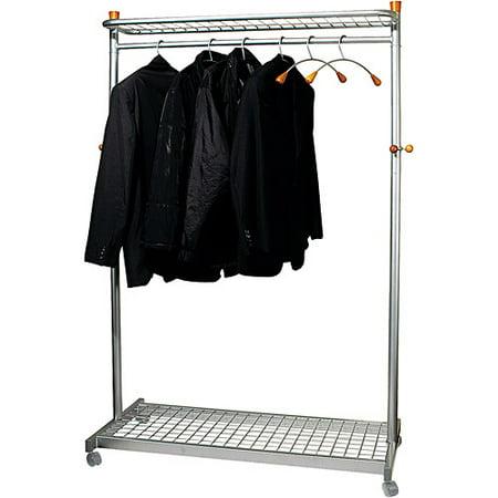 alba two sided two shelf coat rack six hangerssix hooks chrome mahogany alba chromy coat tree knobs