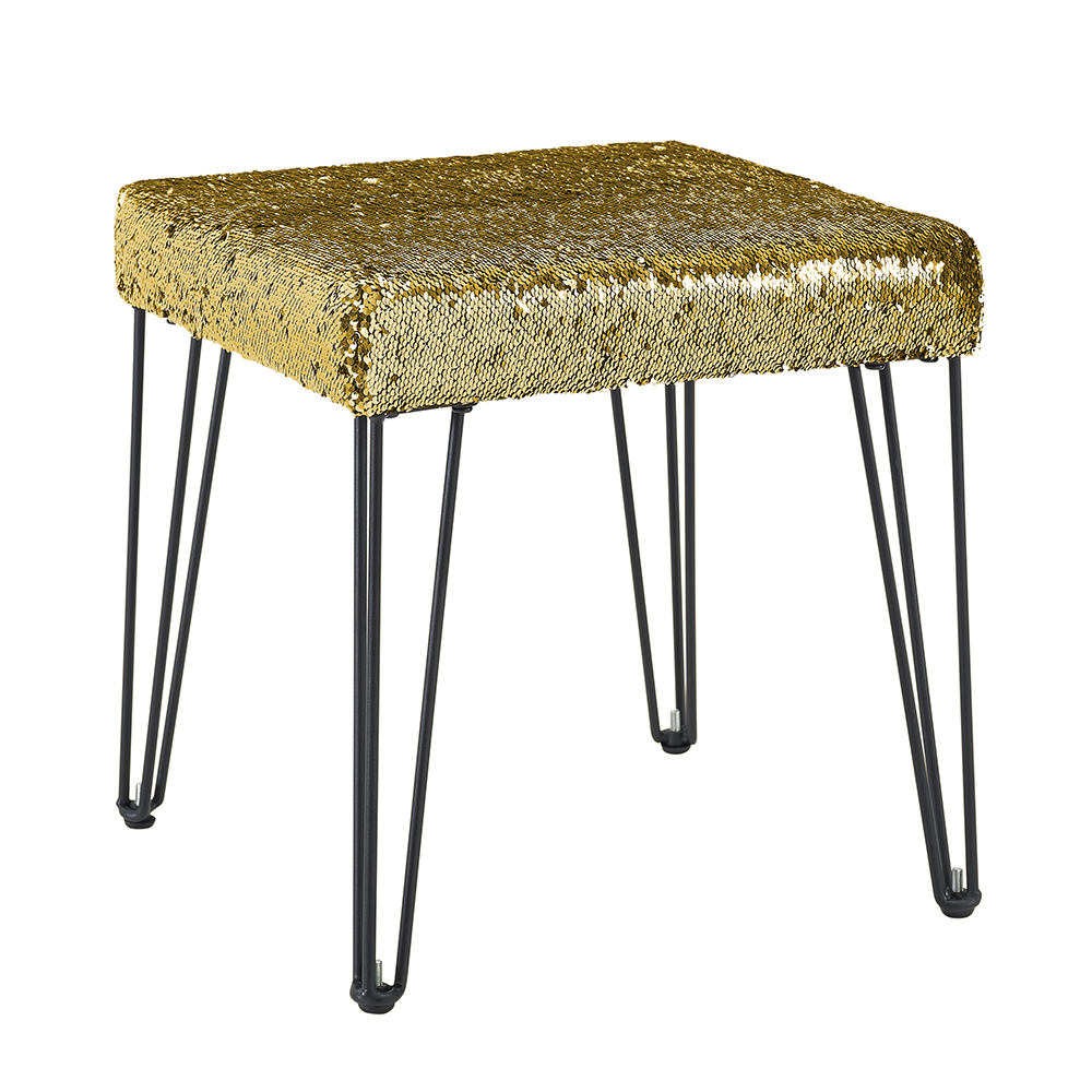 Mainstays Reversible Color Changing Sequin Stool