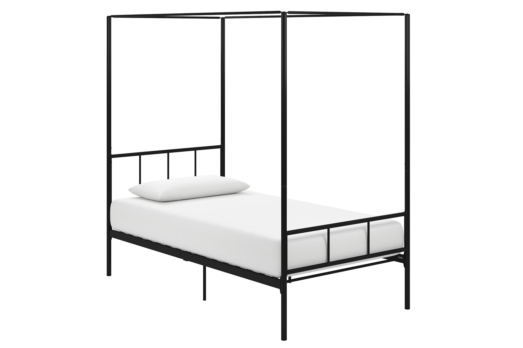Novogratz Marion Canopy Bed, Twin, Black by Dorel Home Products