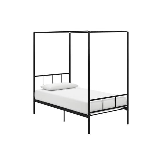 5fc5d11fed44 Novogratz Marion Canopy Bed, Twin, Black - Walmart.com