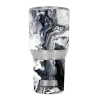 4283c4dd11d Product Image Skin Decal For Rtic 30 Oz Tumbler / Marble White Grey Swirl  Beautiful