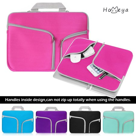 Homeya 15.4 Laptop Sleeve Case Cover Bag Slim Laptop Case For 15 Inch Macbook Apple Samsung Chromebook HP Acer Lenovo Portable Laptop Sleeve Liner Package Notebook Case Soft Sleeve Bag Case Pink