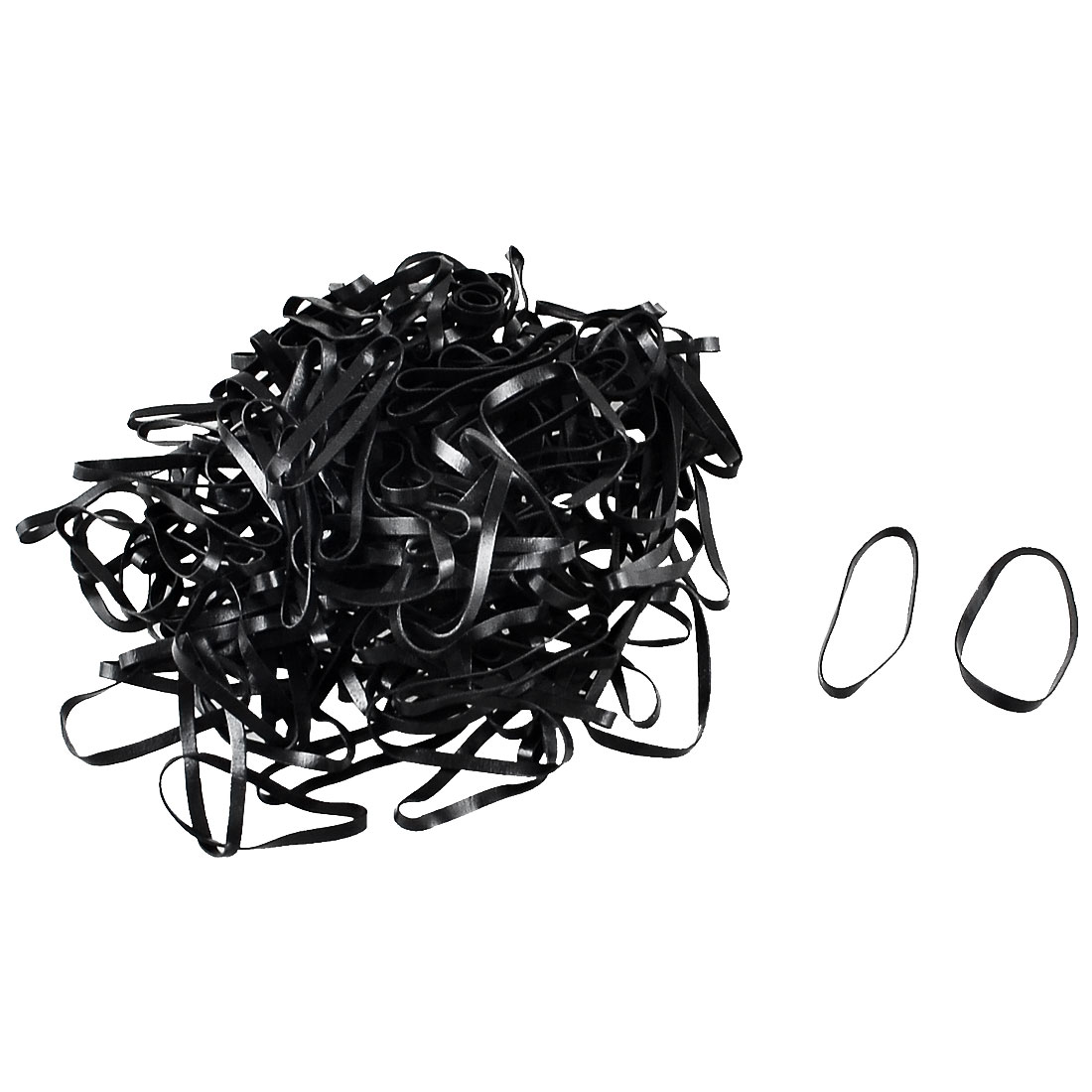 Unique Bargains 180 Pcs Rubber Hair Ties Bands Ponytail Braid Holder Elastics Black