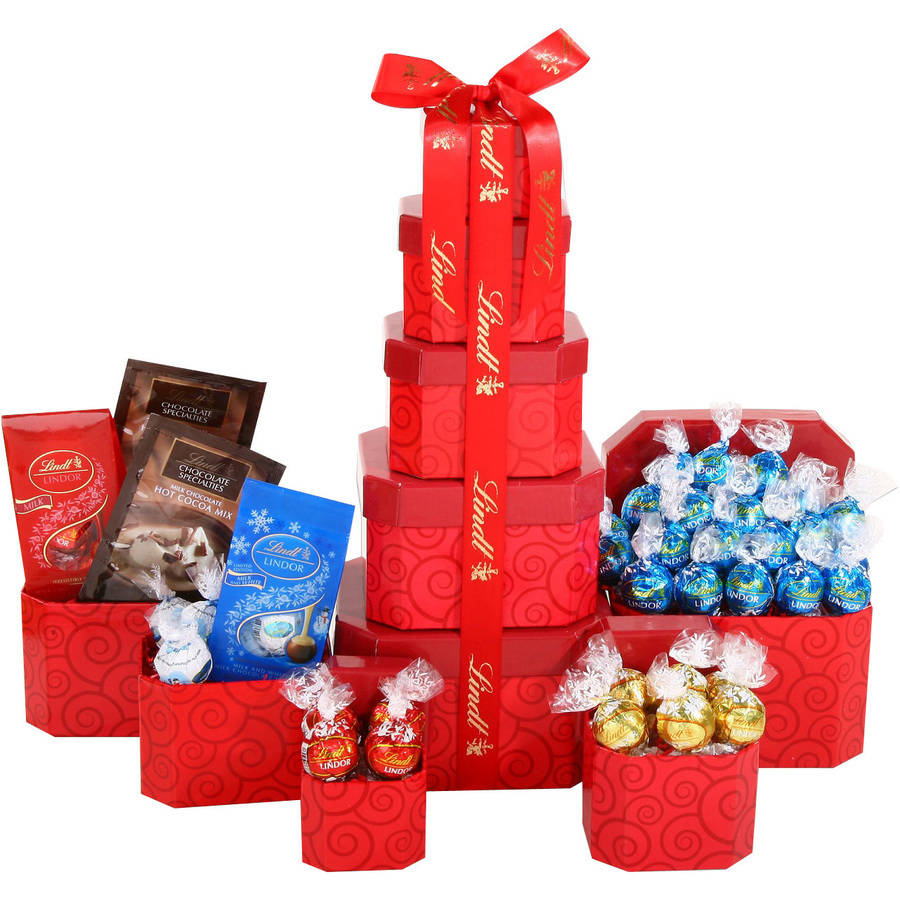 Alder Creek Gift Baskets Lindt Tower Gift Set