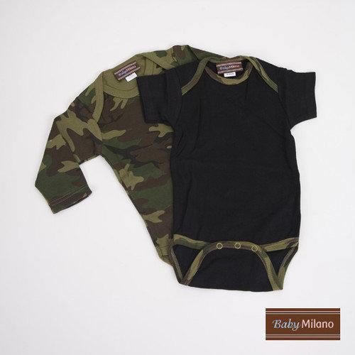 Baby Milano Infant Bodysuit Gift Set in Green Camo