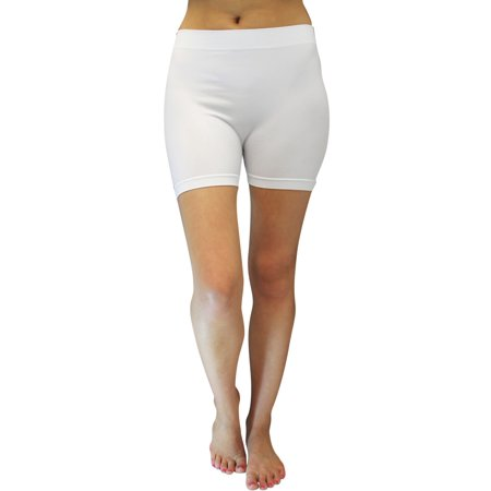 nouvelles photos 97dd8 2789b White 12 Long Ultra Stretchy Legging Shorts