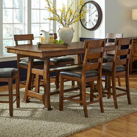 AAmerica Ozark Counter Height Trestle Dining Table Walmartcom - Trestle dining room table