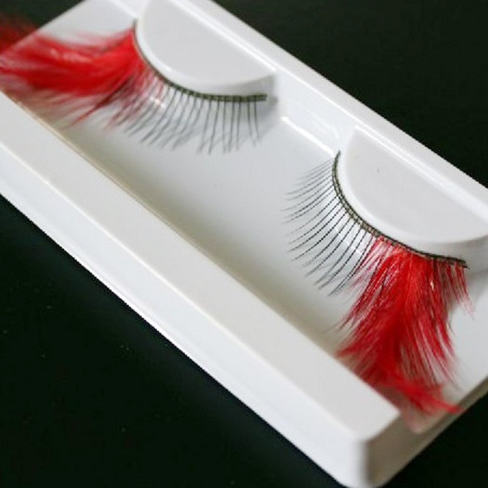 Mosunx Exaggerated Drama Stage Dressing Party Feathers False Eyelashes