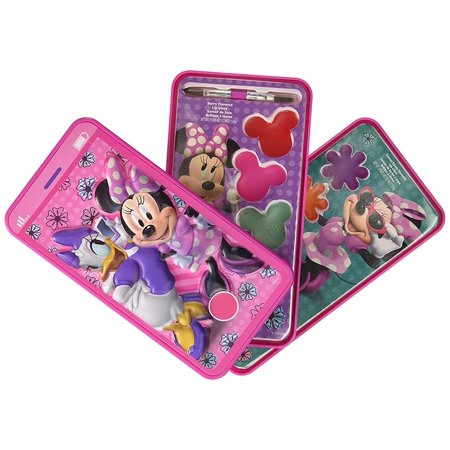 Minnie Mouse Super Sparkly Lipgloss Set With Gift Tag, Minnie Mouse And Daisy Cell Phone Slide Out Lip Gloss Makeup Cosmetic Set Case, Cosmetics Kit For Kids, Christmas And Birthday Gift Ideas (Ghoul Makeup Ideas)