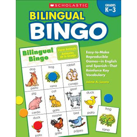 Science Vocabulary Readers - Bilingual Bingo : Easy-To-Make Reproducible Games-- In English and Spanish--That Reinforce Key Vocabulary