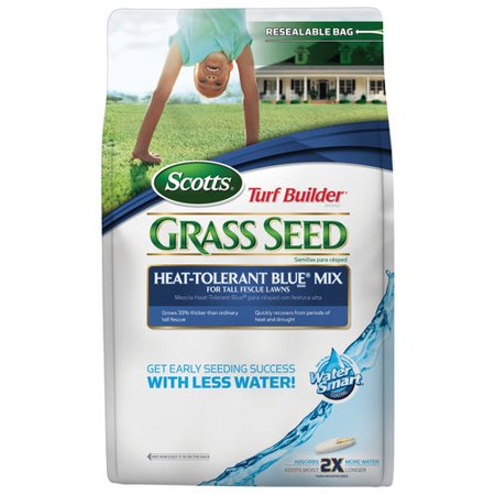 Scotts Turf Builder Grass Seed Heat-Tolerant Blue Mix For Tall Fescue Lawns, 3