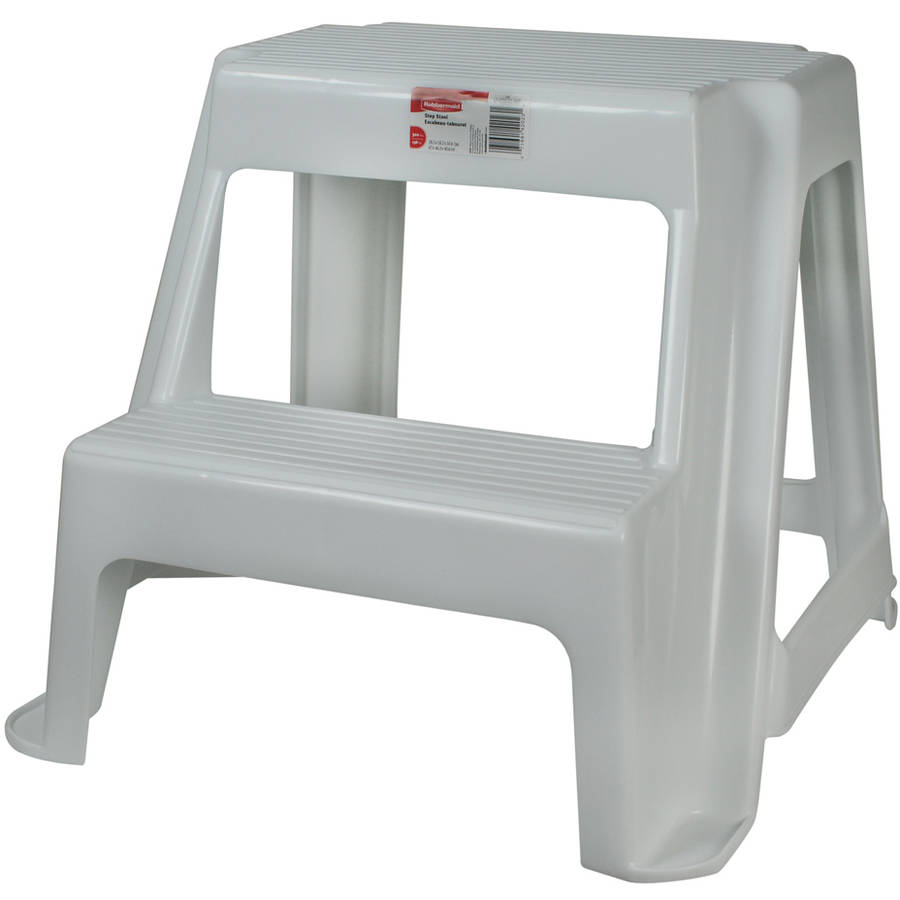 Rubbermaid Fg420200wht Roughneck Two Step Step Stool