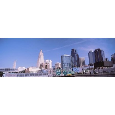- Low angle view of downtown skyline Kansas City Missouri USA Poster Print