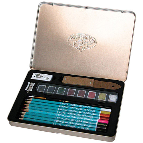 Royal Brush Watercolor Pencil Art Set by Royal Brush