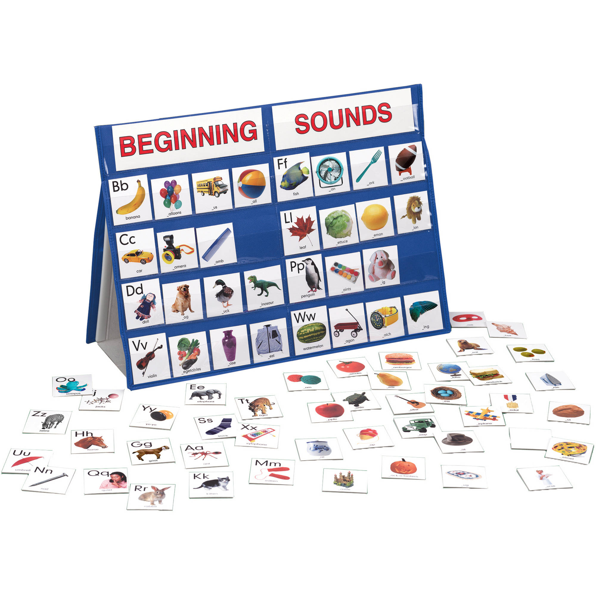 LAURI Tabletop Pocket Chart, Beginning Sounds
