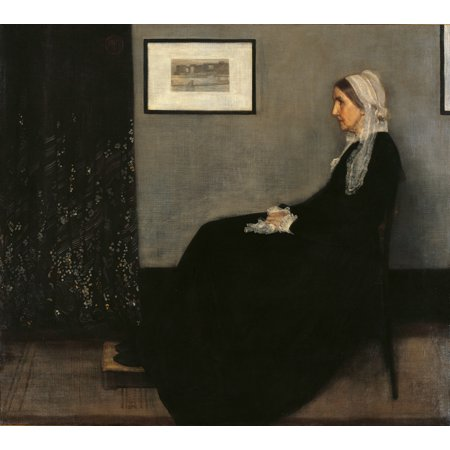 Arrangement In Gray And Black No 1 (Portrait Of The Painters Mother) Canvas Art -  (24 x (Arrangement In Grey And Black No 1 Analysis)