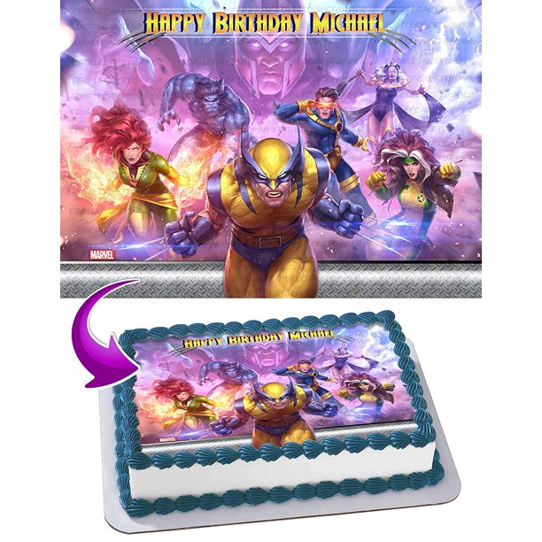 Peachy X Men Wolverine Edible Cake Image Topper Personalized Birthday Birthday Cards Printable Giouspongecafe Filternl