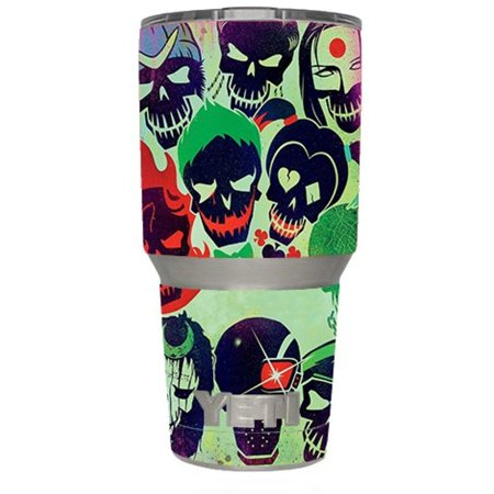Skin Decal Vinyl Wrap for Yeti 30 oz Rambler Tumbler Cup (6-piece kit) Stickers Skins Cover / Skull Squad, green berets