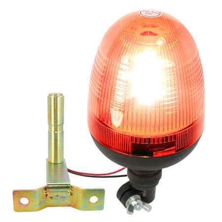 HQRP 12V DC Emergency Amber LED Strobe Mini Light Low Profile Beacon, Tow / Plow Escort Safety for Truck Car Auto plus HQRP Coaster