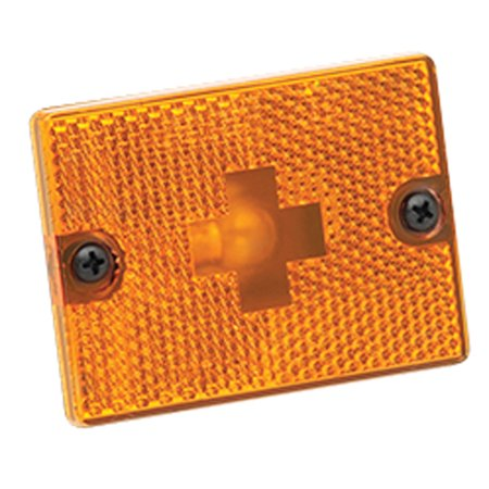 - Wesbar 003338 Clearance/Side Marker Lights With Reflex Lens - Replacement Lens, Amber