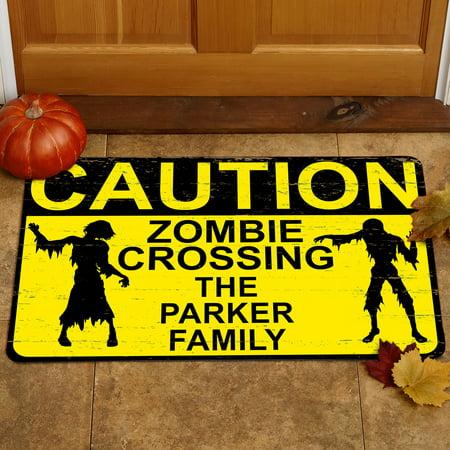Personalized Zombie Crossing Doormat, 17